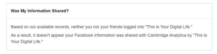 data not shared