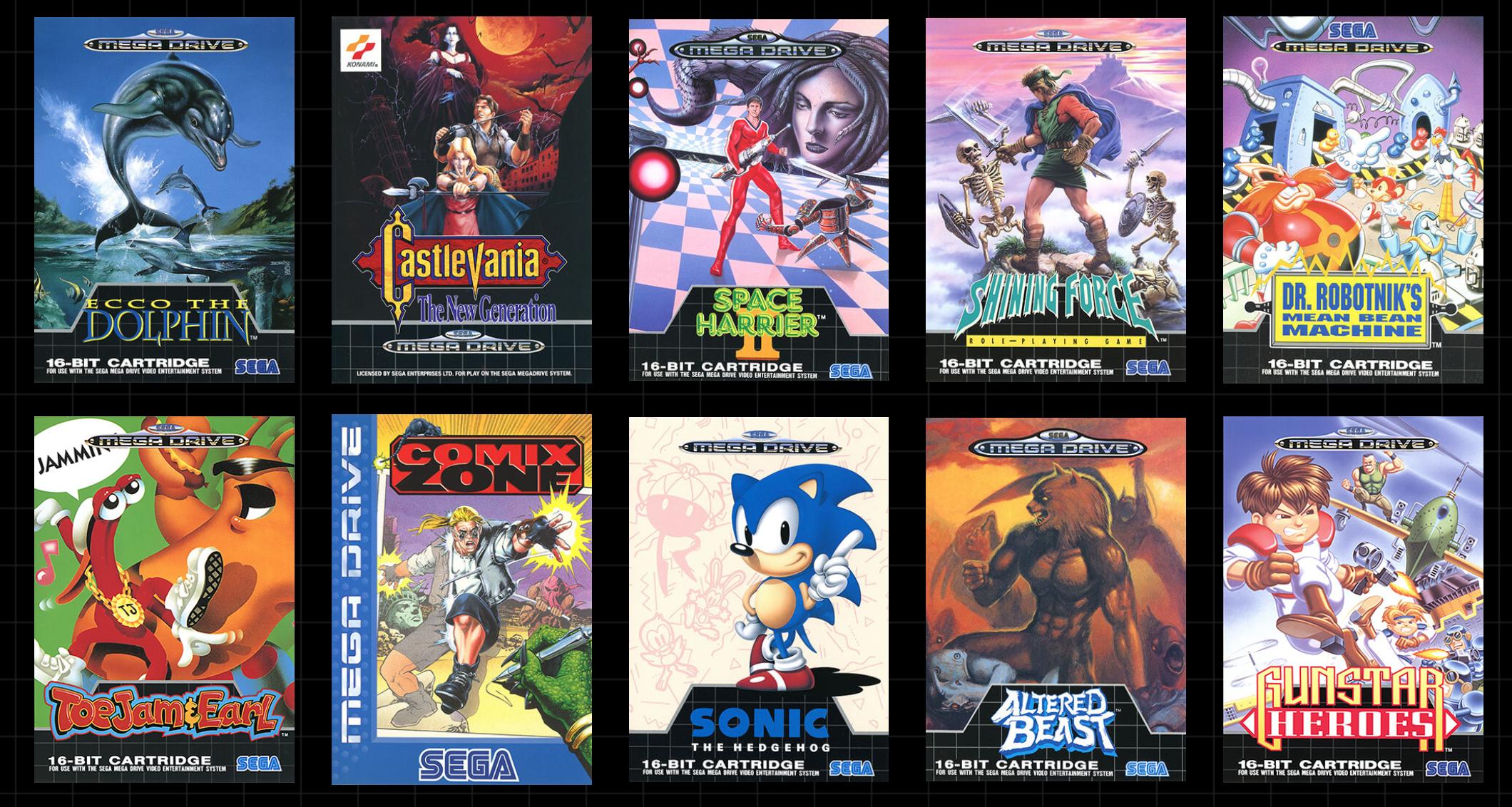Sega Mega Drive Mini games