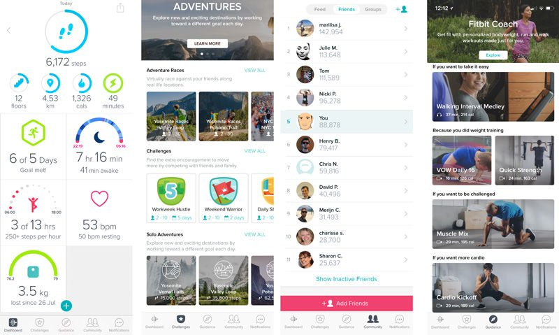 Fitbit Mobile App Screens