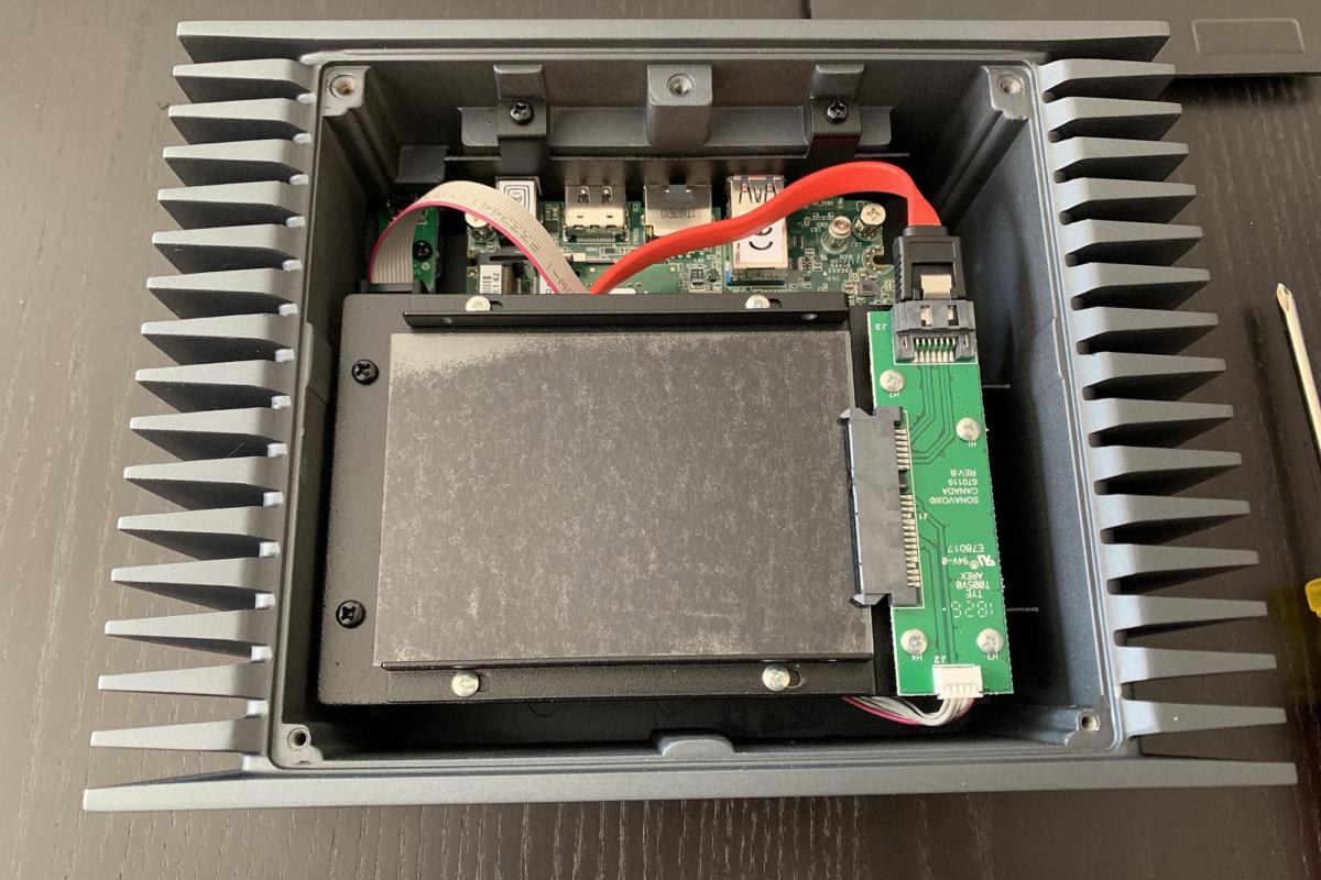 You can install a single low profile SSD drive inside the Roon Nucleus for internal storage.
