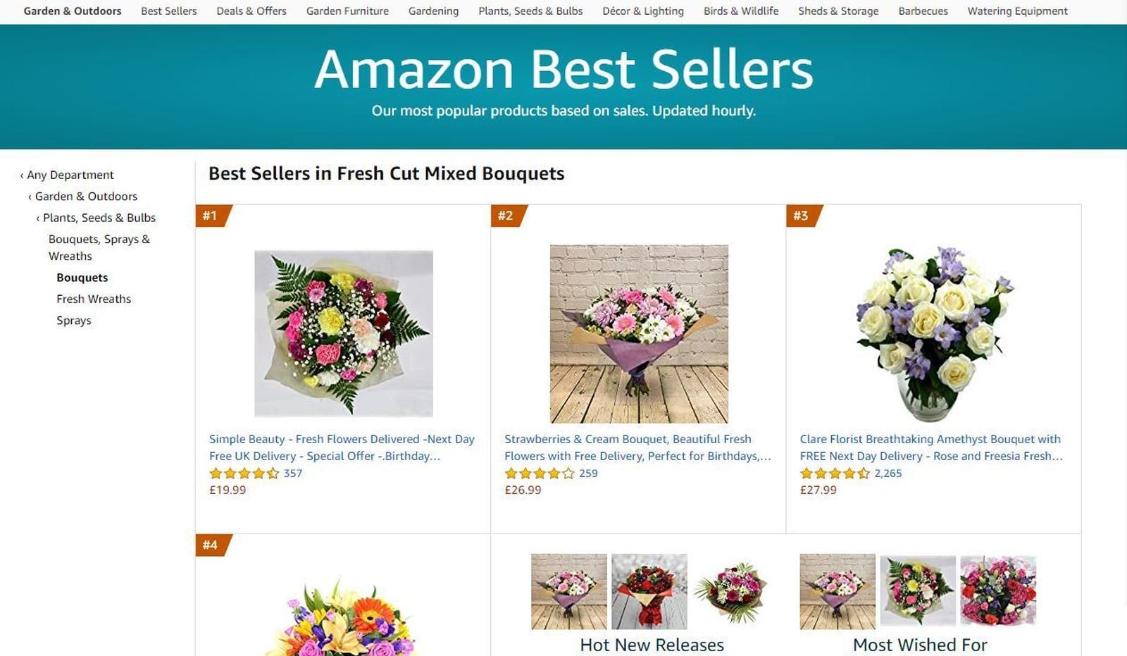 Amazon Best Sellers Flowers