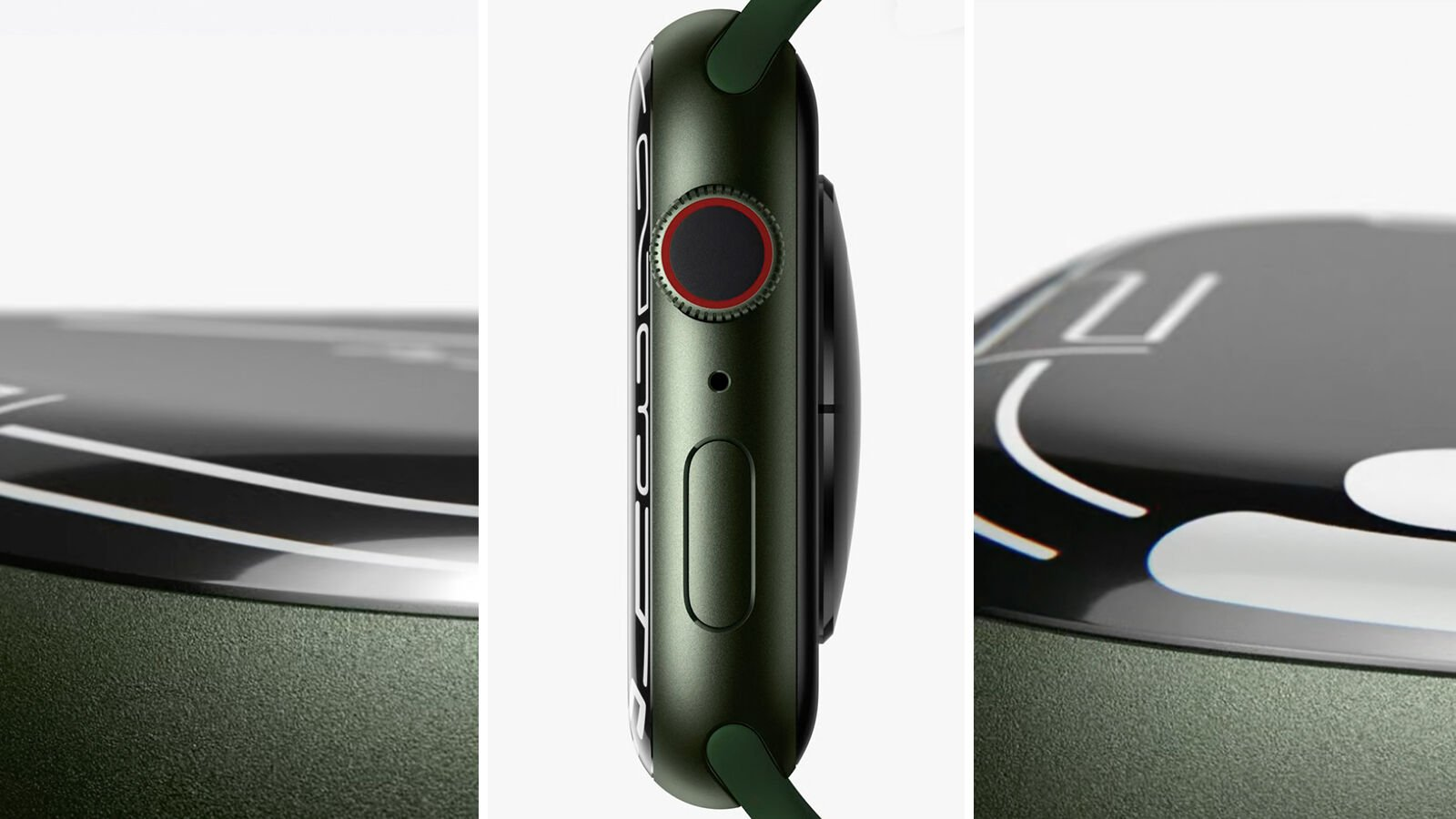 Apple Watch Series 7 display curvature collage